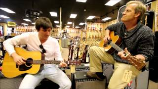 Ben and Jeff Daniels at Norman's Rare Guitars