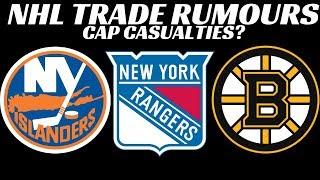 NHL Trade Rumours - Bruins, Rangers, Isles, Canucks, TB, Sharks