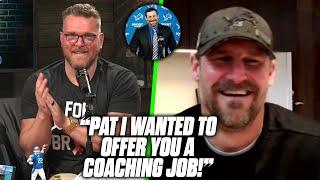 Lions HC Dan Campbell Offers Pat McAfee A Coaching Job.