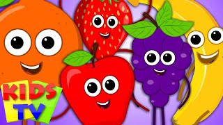 Five Little Fruits | Fruits Song | Learn Fruits | Five Little Fruits | Fruits For Kids | Fruit Rhym