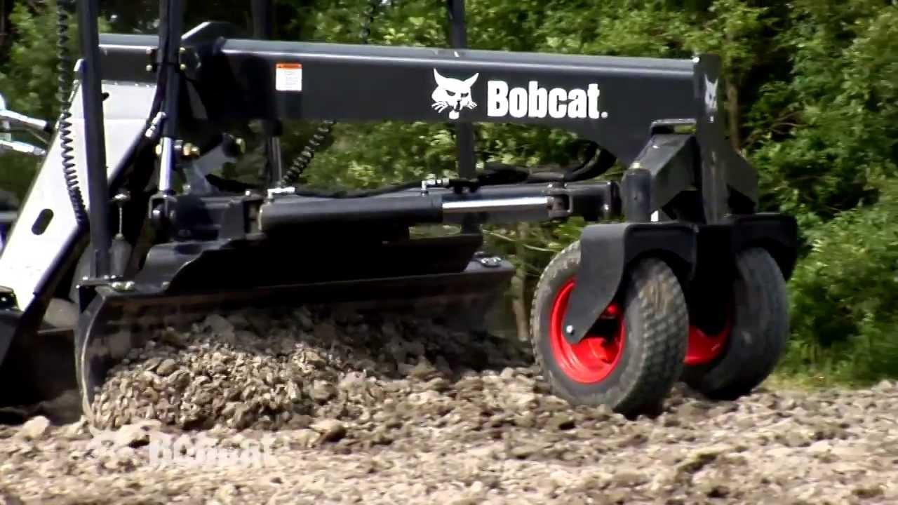 Bobcat Laser Grader Attachment Youtube