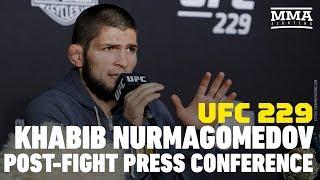 UFC 229: Khabib Nurmagomedov Post-Fight Press Conference - MMA Fighting