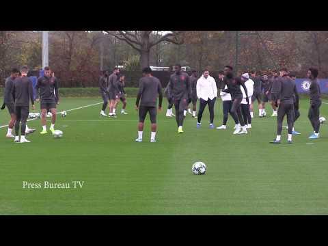 Chelsea training Champions League
