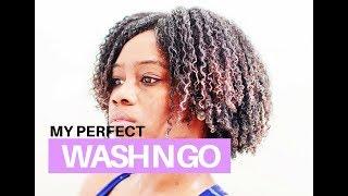 The Wash N Go Using Eco Styler Gel   How to Define Curls