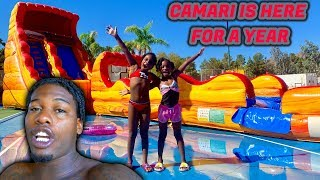 I PICKED UP MY DAUGHTER CAMARI FROM THE AIRPORT TO STAY FOR A WHOLE YEAR!