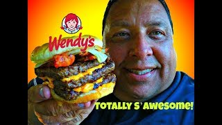 Wendy's® S'Awesome Bacon Classic Triple Burger Review!