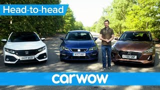 Honda Civic vs Hyundai i30 vs SEAT Leon 2018 review - which is best| Head2Head