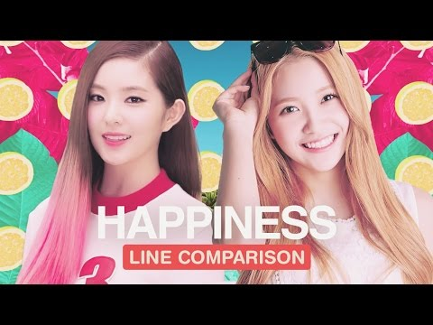 RED VELVET - Happiness (Line Comparison) 「with Yeri」