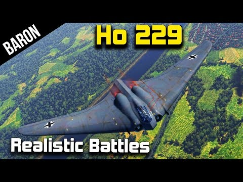 War Thunder 1.43 - Horten Ho 229 in Realistic Battle, How Does it Play? (Patch 1.43 New Jet)