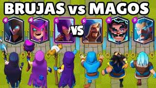BRUJAS VS MAGOS | CUAL ES MEJOR? | 3vs3 | NUEVA BRUJA MADRE | CLASH ROYALE