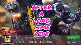 Mobile Legends Bang Bang Johnson gameplay by Prince Sanathoi After A Long Time Ride.