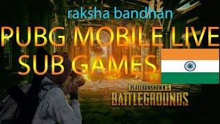 PUBG MOBILE LIVE HAPPY RAKSHA BANDHAN #HINDI..!