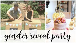 Twin Gender Reveal Party | Kendra Atkins