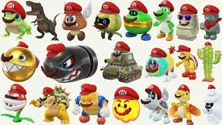 Super Mario Odyssey - All Captures Gameplay