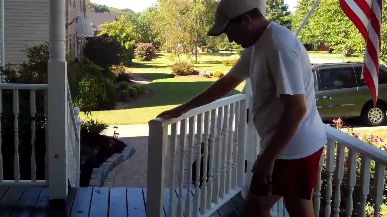 Front Porch Ideas Rolling Gate For Your Porch Youtube