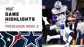 Texans vs. Cowboys Preseason Week 3 Highlights | NFL 2019