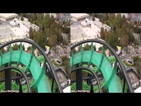 Riddler's Revenge (3D On-Ride) Six Flags Magic Mountain