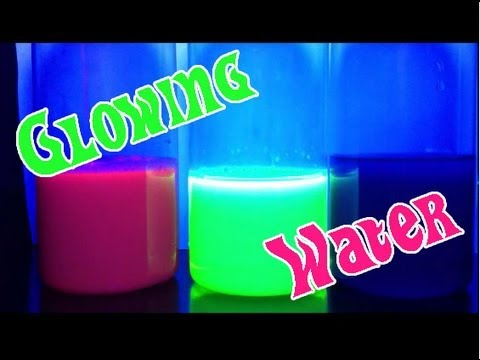 Glowing Water Easy Kids Science Experiments Youtube