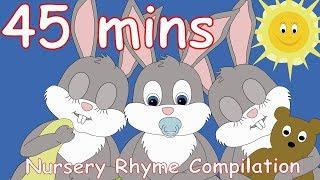 Sleeping bunnies! And lots more Nursery Rhymes! 45 minutes!