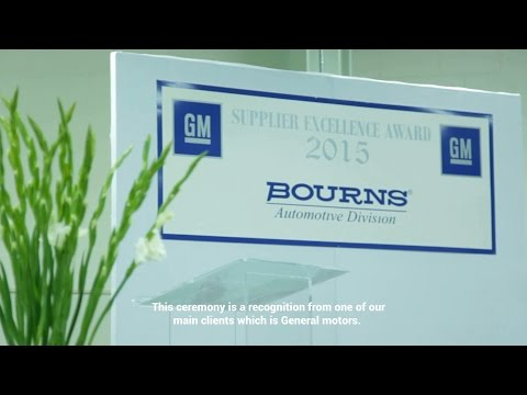Bourns, Inc. GM 2015 Quality Excellent Supplier Award Ceremony