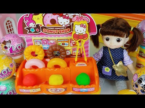 Baby doll and Play doh cooking shop toys surprise eggs play - 토이몽