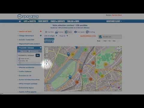 Tuto Corporama - Géolocalisation et cartographie