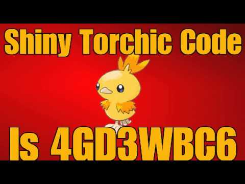 Ptd 2 Mystery Gift Code For Shiny Torchic Pokemon Tower
