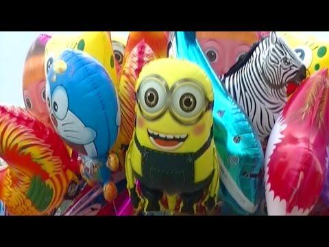 Balonku Ada Lima - Balloons Minion, Doraemon, Nemo, Shark, Spongebob, Ipin Upin - Balon Karakter