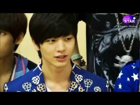 BTOB - Sungjae's aegyo and Minhyuk's reaction♥