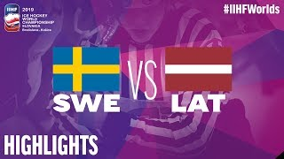 Sweden vs. Latvia - Game Highlights - #IIHFWorlds 2019