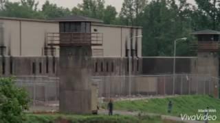 The group clear the prison scene HD - twd s3e1