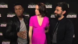 Star Wars: The Force Awakens: Interview with actors John Boyega, Daisy Ridley, and Oscar Isaac