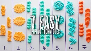 7 Easy Piping Techniques You Can Master - Topless Baker