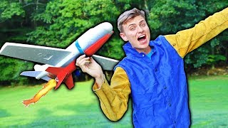 ROCKET POWERED AIRPLANE!!