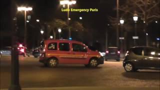 Pompiers de Paris Voiture Officier  En Urgence ( SPVL ) Paris Fire Dept Division Chief responding