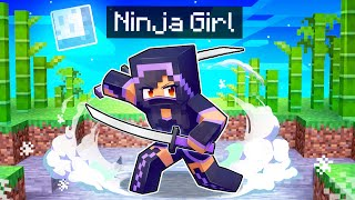 Playing As a NINJA Girl In Minecraft!