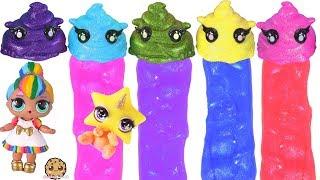 Rainbow Surprise Poopsies Cutie Tooties Blind Bags ! Crunchy , Putty Slime ?