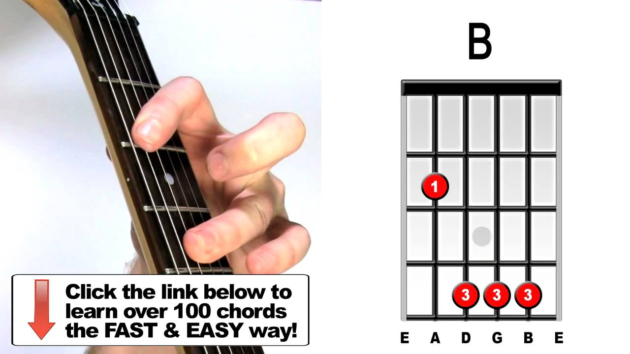 how to play b major guitar chords youtube. Black Bedroom Furniture Sets. Home Design Ideas