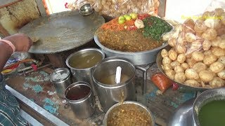 South Indian People Enjoying Panipuri / Golgappa / Fuchka |  Best Indian Street Food Hyderabad