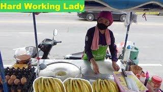 Thai Egg Roti & Banana Pancake   Famous Street Food Thailand   How to Make Roti Gulay