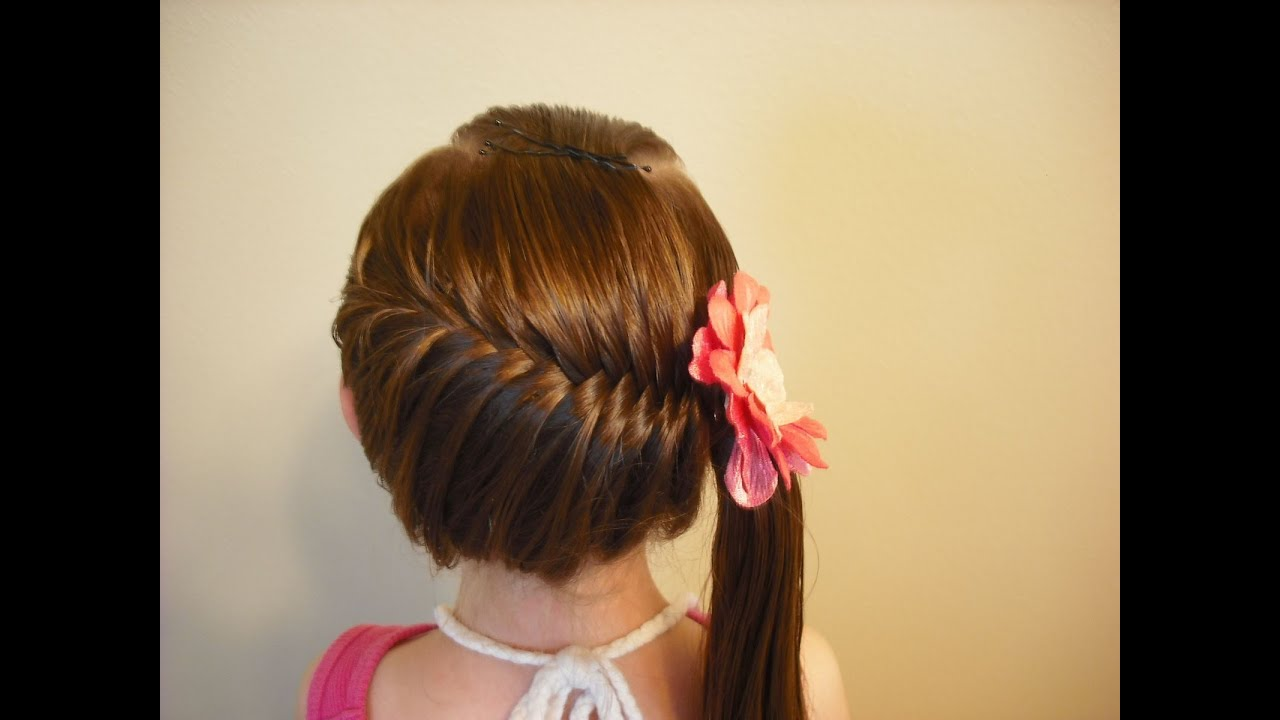 Hairstyles Braids: Side Swept French Fish Braid Hairstyle