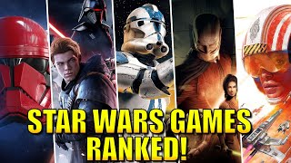 Star Wars Games RANKED from Worst to Best! (w/ Star Wars Squadrons)