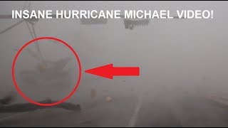 INSANE VIDEO FROM HURRICANE MICHAEL'S EYEWALL! 155MPH WINDS Flying debris nearly hit storm chasers!