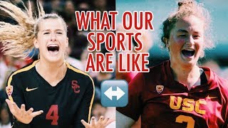 USC ATHLETES SWITCHING SPORTS FOR A DAY (ft. Victoria Garrick)
