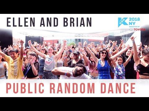 KCON 2018 NY Public K-pop Random Dance (500+ PEOPLE!) | Ellen and Brian