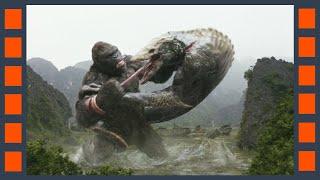 Конг вырывает язык черепозавру  — «Конг: Остров черепа» (2017) сцена 8/8 HD