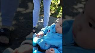 Pulling baby with rc car