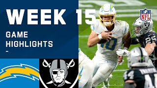 Chargers vs. Raiders Week 15 Highlights | NFL 2020