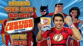 Unboxing Choki Choki Box with Justice League Action Battle Sticks