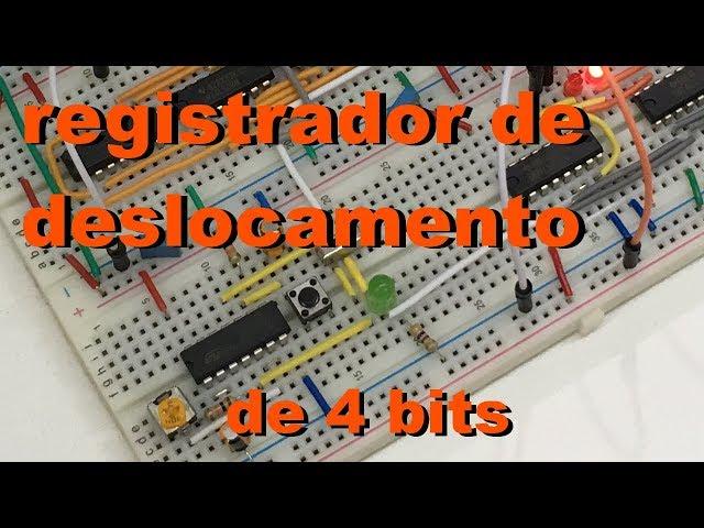 REGISTRADOR DE DESLOCAMENTO DE 4 BITS | Conheça Eletrônica! #049